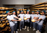 Staff at Bath Soft Cheese, Kelston, Bath. Beata Cosgrove Photography
