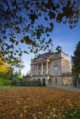 Holborne Museum with autumn leaves