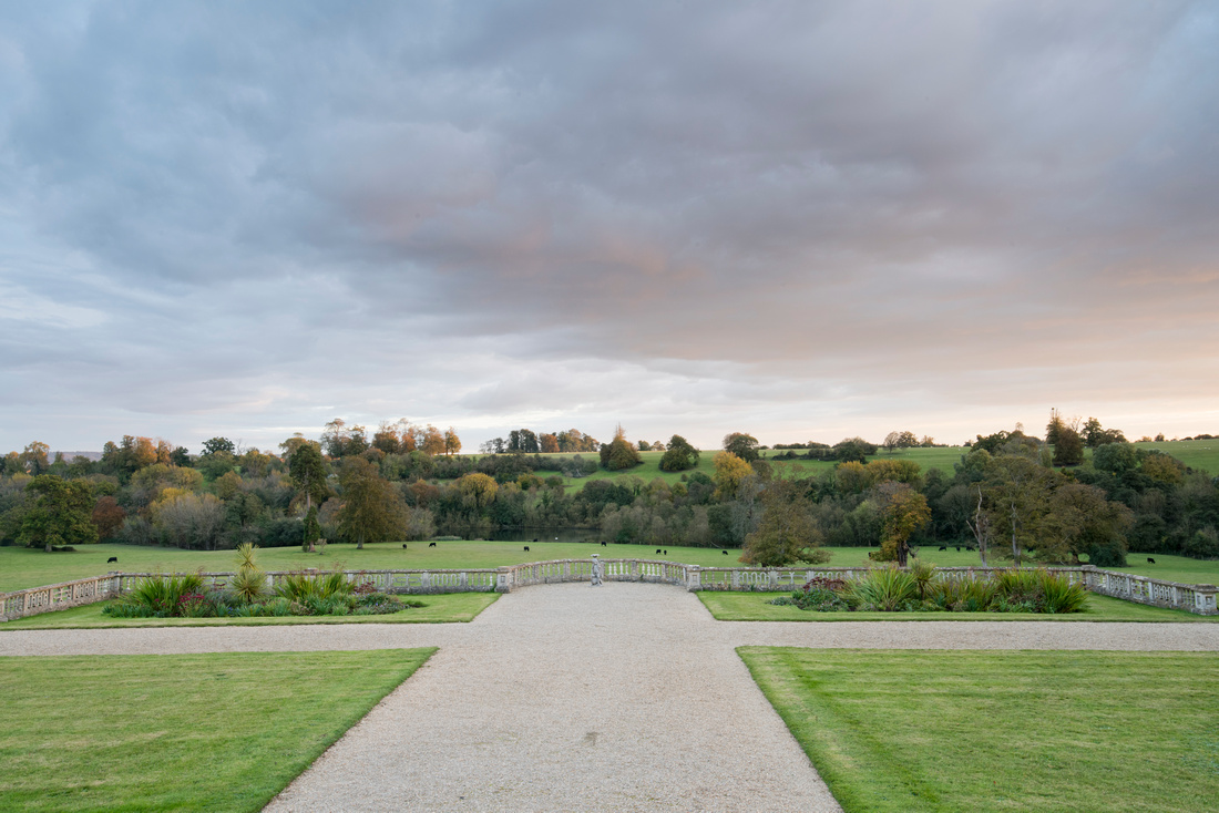 View from Orchardleigh House towards the lake
