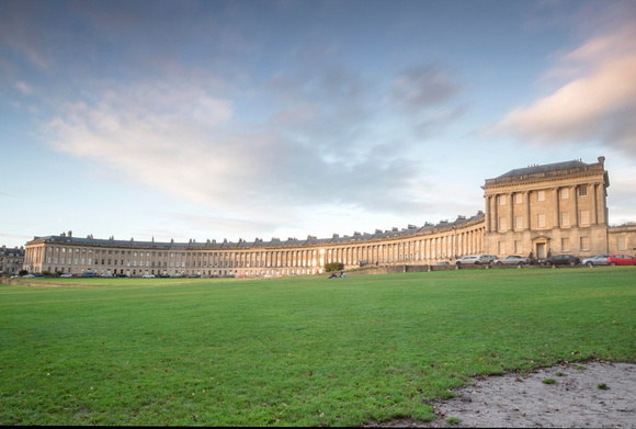 Sunset and dreamy clouds over The Royal Crescent. Bath Photo Prints by Beata Cosgrove Photography 7.12.20 copy