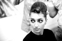 Backstage preparations pictures. Models.Catwalk. Bath in Fashion