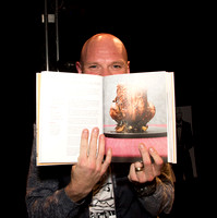 Author Tom Kerridge showing his latest book at a book signing in Bath, Somerset. Photo by Beata Cosgrove