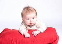 Baby on beanbag. Newborn photography in Bath
